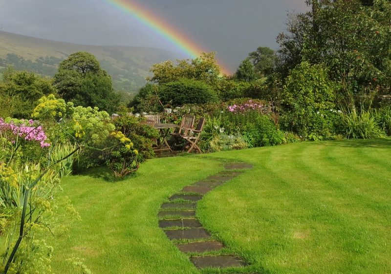 Rainbow in the retreat garden